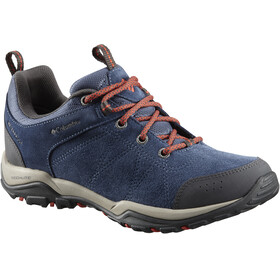 Columbia Fire Venture Low Waterproof Shoes Women Zinc/Red Canyon